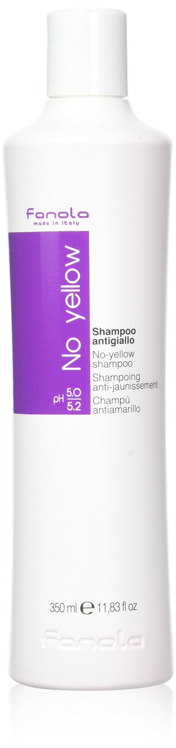 Fanola Champú NO YELLOW Antiamarillo - Especial cabellos grises, aclarados, decolorados, mechas,