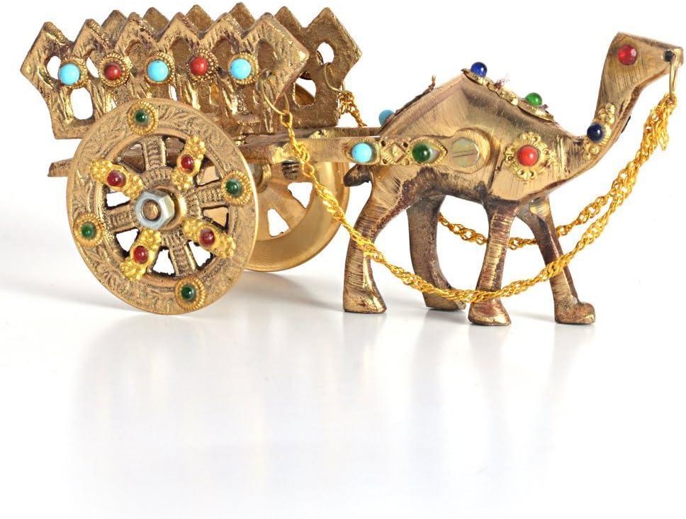 Indian Gift Emporium Decorative Precious Gemstone Studded Pure Brass Camel Handicraft Item HCF184