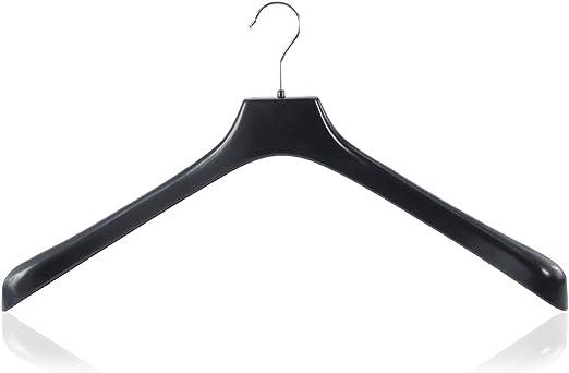 Hangerworld Percha Acolchada 43cm Forrada de Sat/én Negro con Botones Antideslizantes Lencer/ía Lana