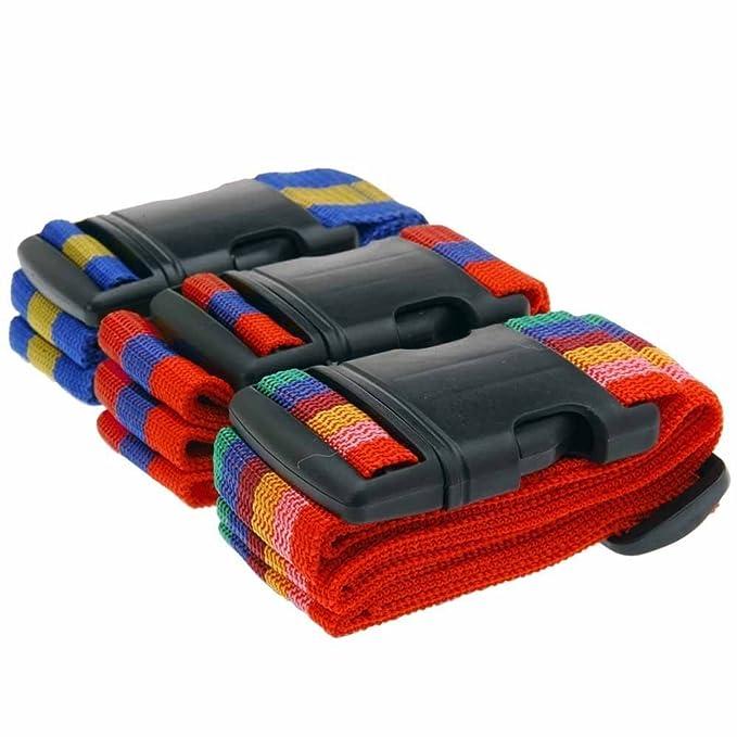 1 opinioni per ToCi Haushalt- Cinghia per bagagli/valigie, 3 pezzi, dimensioni x pezzo: 1,8 m