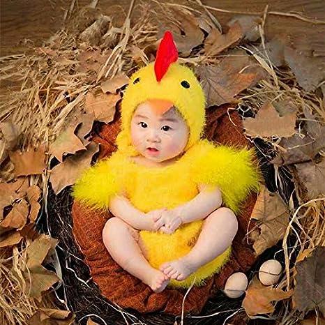 THEE Disfraz Pollito de Fotografía Bebé Recién Nacido: Amazon.es ...