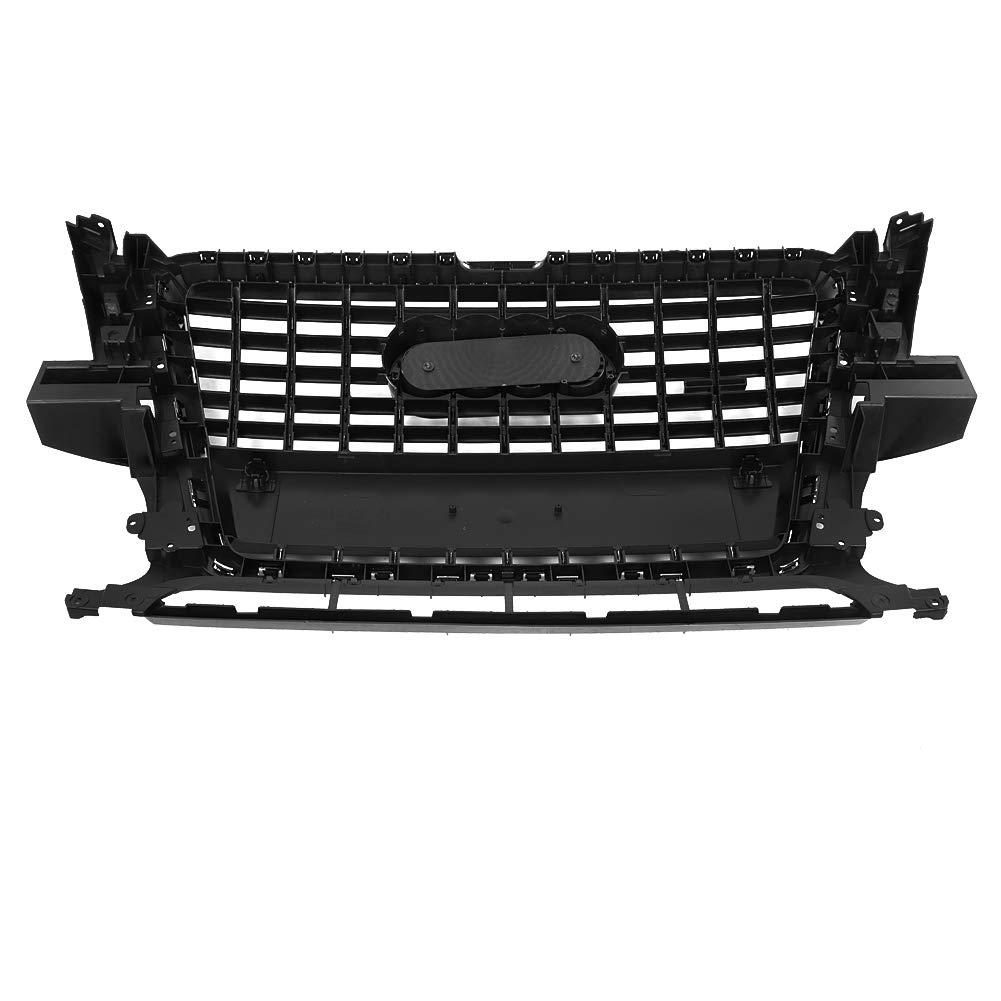 Rejillas frontales de radiador para Q5 2009-2012 Parachoques delantero cubierta malla rejilla cubierta cubierta cromo negro: Amazon.es: Coche y moto