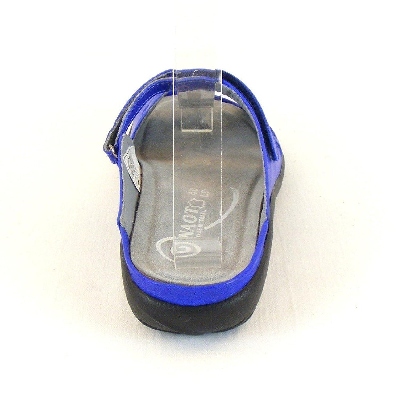 Naot Damen Schuhe Pantoletten Tia Leder royal blau 11761 Wechselfußbett Fußbett, Größe:38