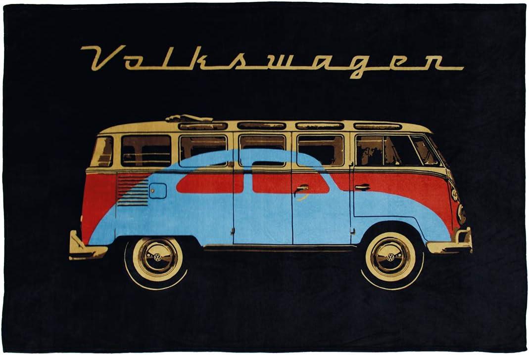 Volkswagen Bulli T1 Decke Cut 130 x 170 cm Fleecedecke Wohndecke Tagesdecke 026
