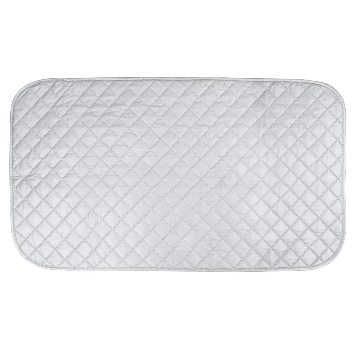 Fodlon Portable Travel Iron Mat Heat Resistant Ironing Blanket Laundry Pad Quilted Washer Dryer Pad Ironing Board Covers for Table Top