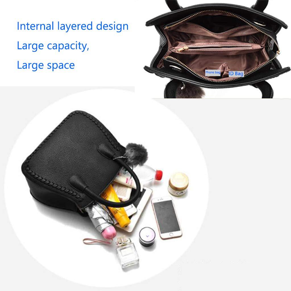 GYPING kvinnors designer topphandtag handväskor PU crossbody mode kuvertväska axelväska arbete shopping resebadet, lila 1 Rosa