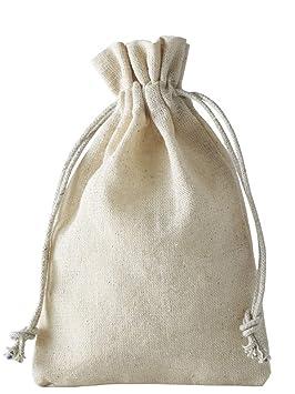 10 bolsas de lino, bolsitas de lino con cordón de algodón para cerrar, para guardar pequeños regalos (30x20cm)