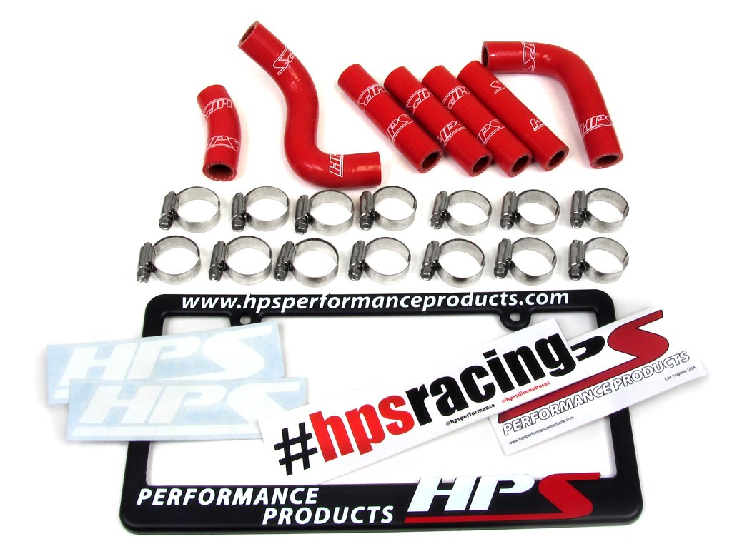 HPS 57-1344-RED-2 Red Silicone Pesky Heater Hose Kit (Coolant)