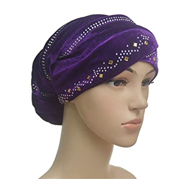 Womens Turban Hats Muslim Frontal Cross Headwear Caps Islamic Chemo Hijab Bonnet