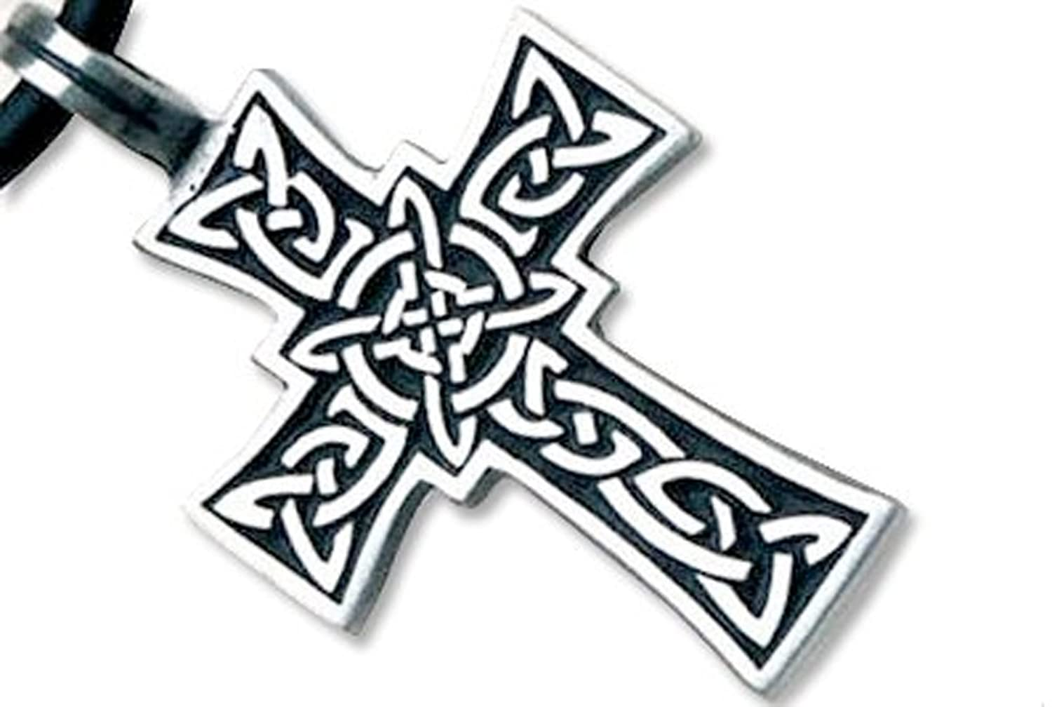 handmade silver cross large celtic pendant