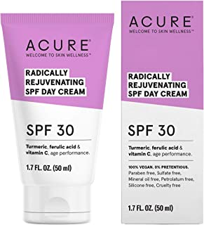product image for ACURE Radically Rejuvenating SPF 30 Day Cream | 100% Vegan | Provides Anti-Aging Support | Turmeric, Ferulic Acid & Vitamin C - Provides Sun Protection & Antioxidants | 1.7 Fl Oz