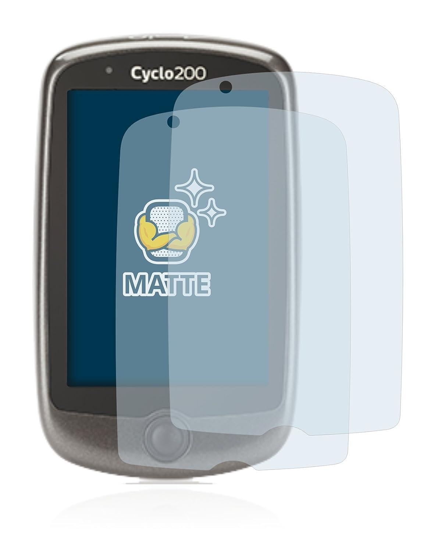 BROTECT Protector Pantalla Mate para Mitac Mio Cyclo 200 Anti-Reflejos 2 Unidades