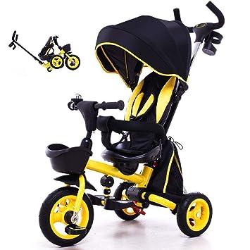 Amazon.com: Triciclo para niños, mango para padres 4 en 1 ...