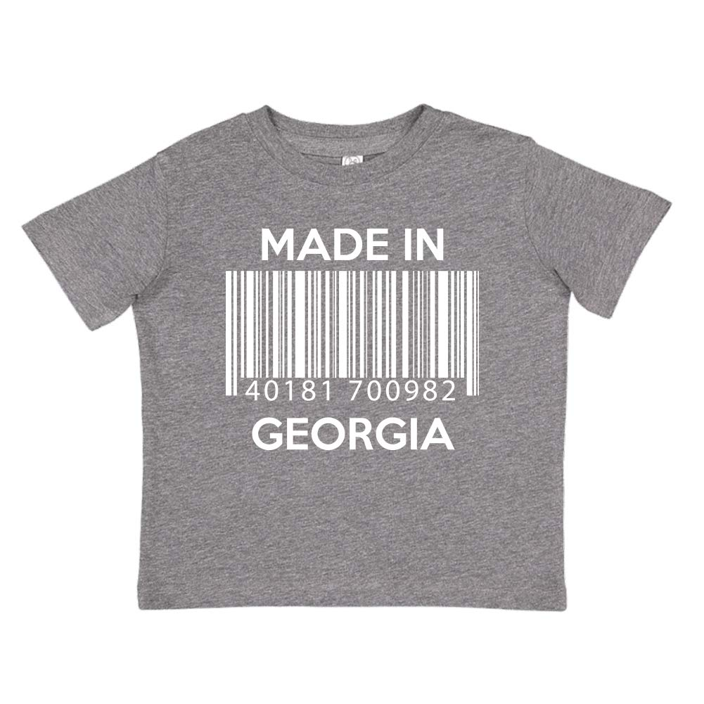 Made in Georgia Barcode Toddler//Kids Short Sleeve T-Shirt