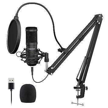 Amazon.com: SUDOTACK Micrófono de PC Podcast con transmisión ...