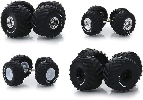 Greenlight Wheel /& Tire Packs Series 4 Dodge Wheels and Tires Set 16070 B 1//64