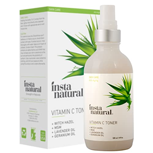 InstaNatural Vitamin C Facial Toner - Anti Aging Face Spray - Pore Minimizer & Calming Skin