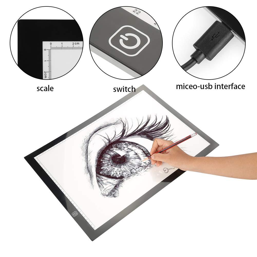 quadro di Luci di copyboard pittura A3 3 luminosit/à regolabile cassetta di luce penetrante del pannello da disegno della pittura