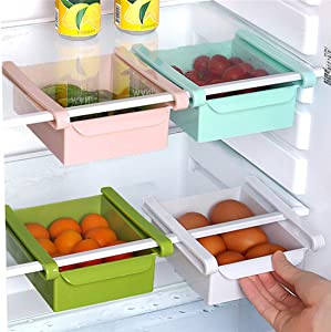 Shangjie Town Kitchen Fridge Freezer Slide Drawer Type Space Saver Storage Organizer Rack Shelf Holder Storage Boxes Bins Plastic Box