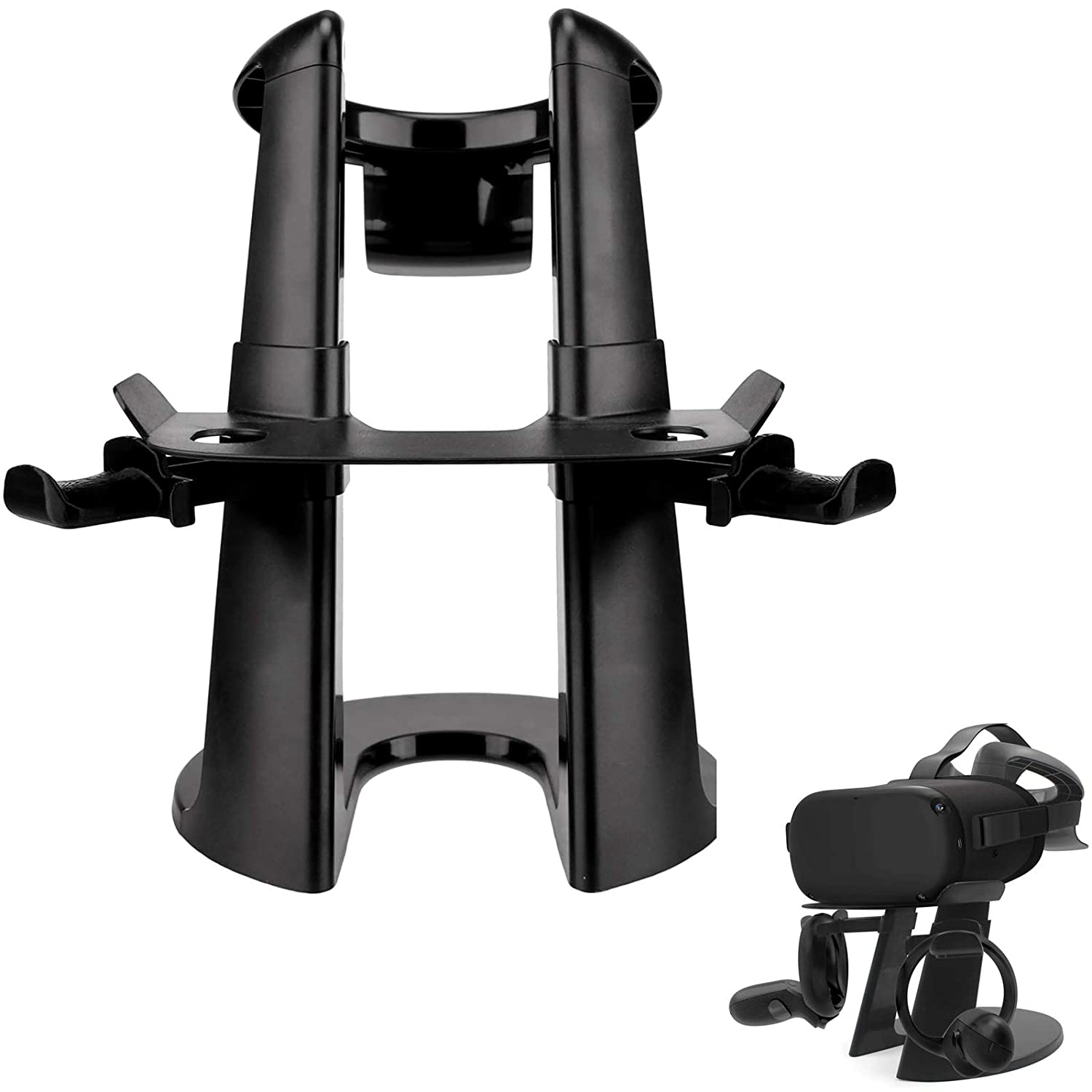LICHIFIT AMVR VR Stand Headset Display Holder Controller Mount Station for Oculus Rift S / Oculus Quest Virtual Reality Headset and Touch Controllers Organizer