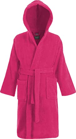 Kids 100/% Cotton Hooded Terry Towelling Bath Robe Gown