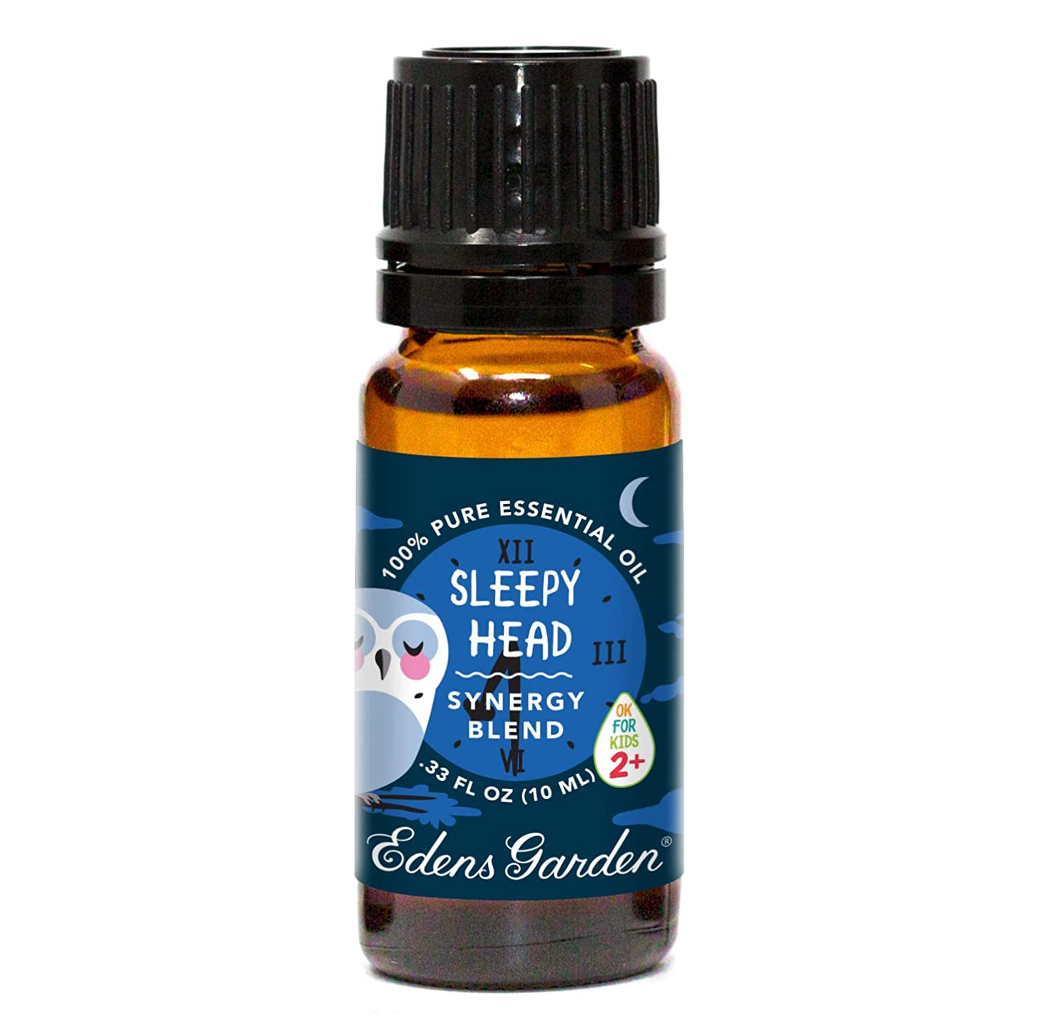 "Edens Garden Sleepy Head""OK For Kids"" Essential Oil Synergy Blend, 100% Pure Therapeutic Grade (Child Safe 2+, Sleep & Stress), 10 ml"