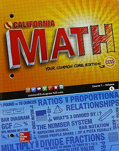 California Math Course 1 Volume 1 - 9780021440115 | SlugBooks