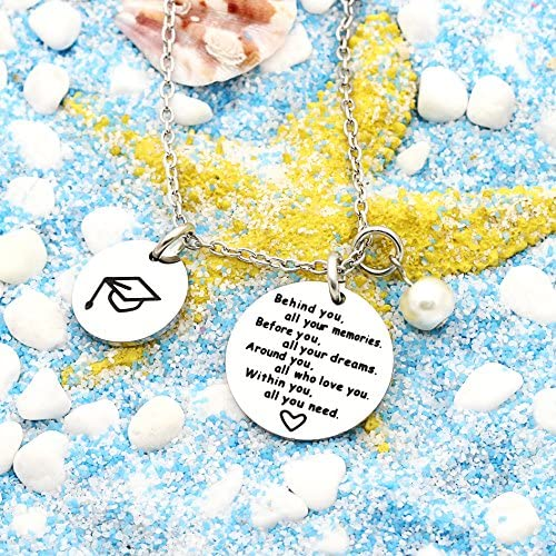lauhonmin Graduation Gifts for Best Friends Student Necklace from Teacher Parents Give Away Gifts