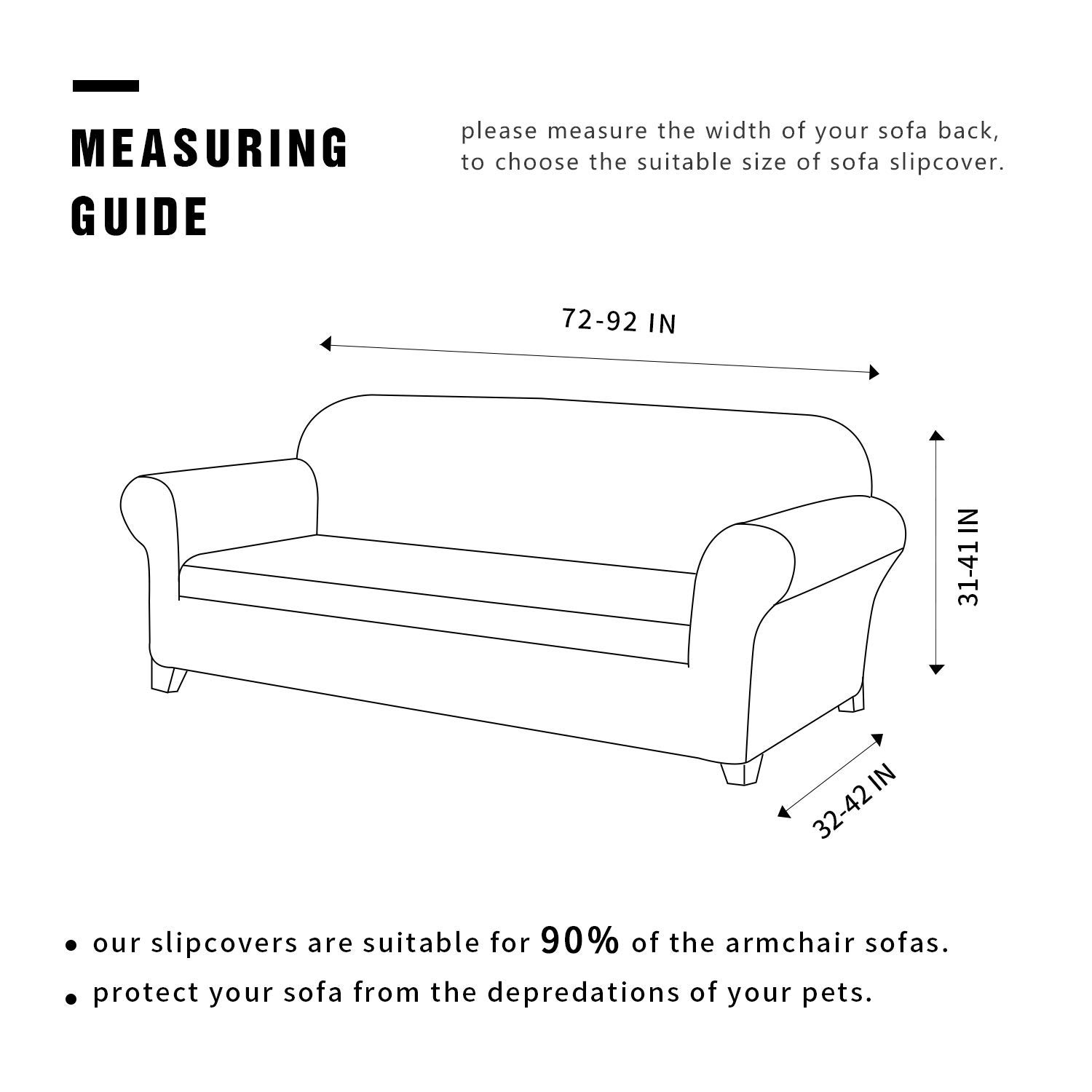 TOYABR 2-Piece/Seersucker Jacquard/Stretchy/Fabric/Dinning Room Sofa/Slipcovers/Fitted/Sofa/Protector Loveseat, Cream Ivory