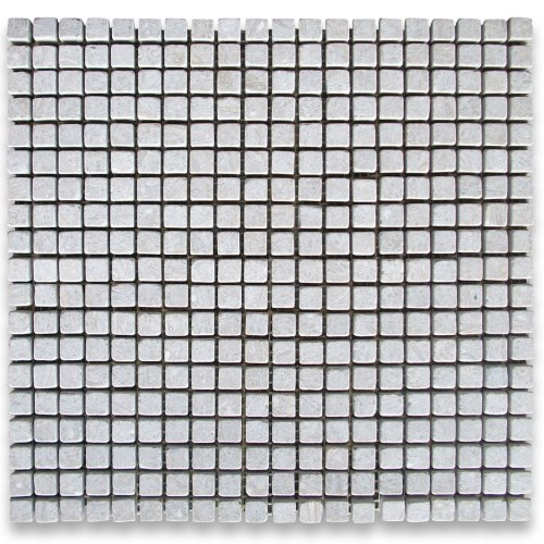 Seagrass Limestone Square Mosaic Tile 38 x 38 Tumbled