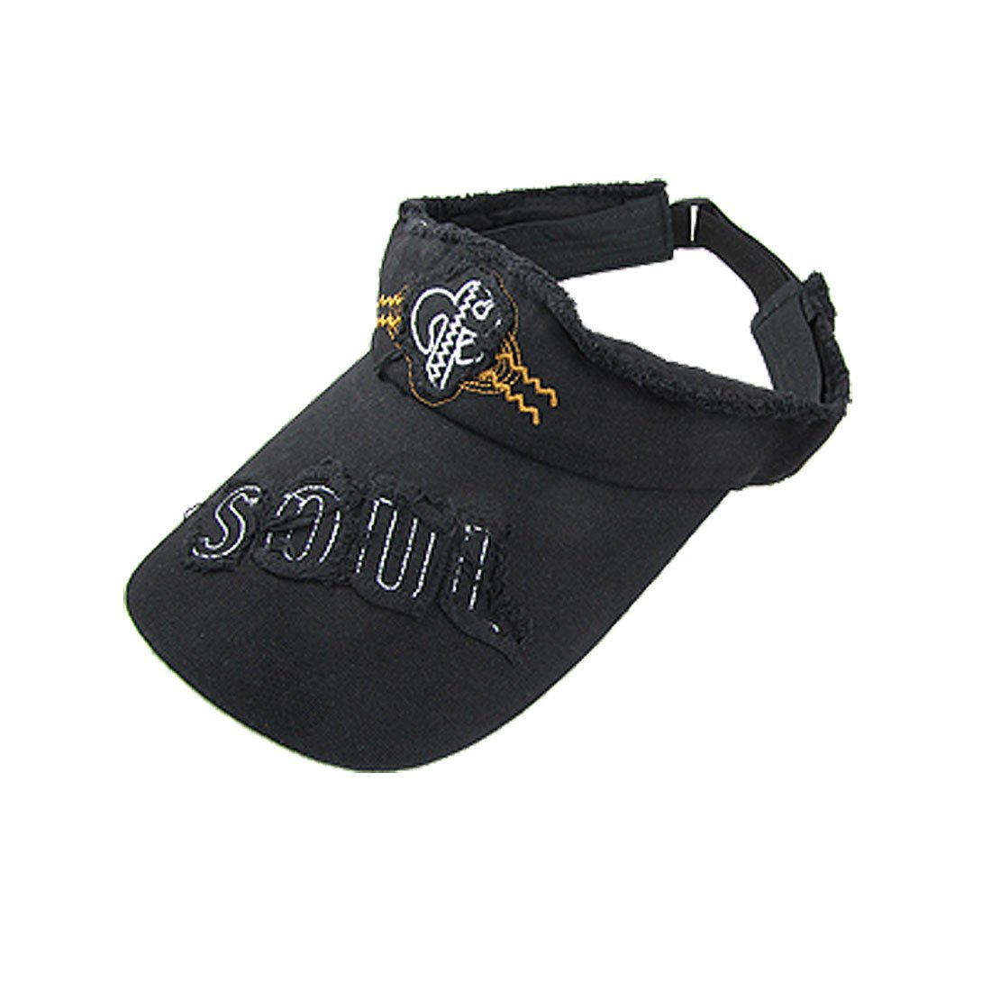 Soul Letters Accent Top Opened Visor Cap Black for Lady