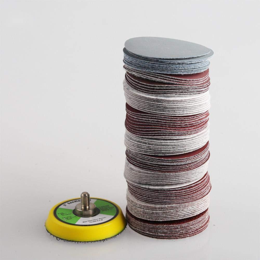 choisir le type papier abrasif sec Disque de pon/çage mixte abrasif rond 1 pi/èce de tampon de sauvegarde 100 pi/èces 50 mm filetage 5-16-24