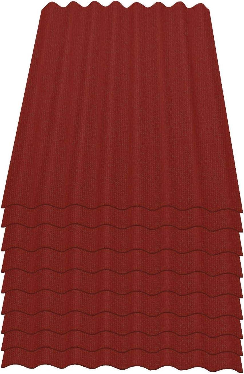 schwarz Onduline Easyline Dachplatte Wandplatte Bitumenwellplatten Wellplatte 9x0,76m/²