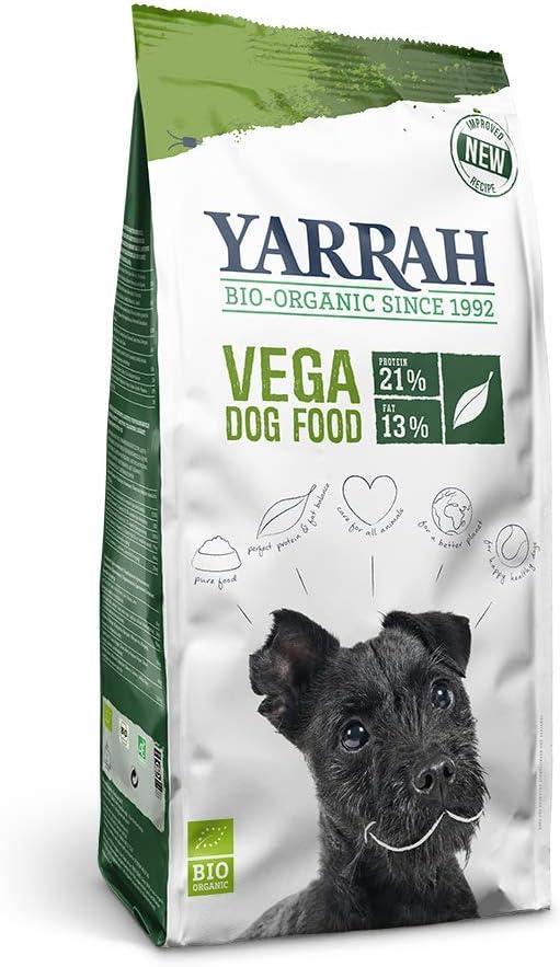 YARRAH Comida Seca orgánica para Perros Vega – Sabrosa Vegetariana y Vegana con Frijoles de Soja orgánicos, Aceite de Coco, Lupa Blanca y Baobab – Apto para Todo Tipo de Perros Adultos – 10 kg