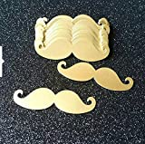 Hot Sale Gold 5cm Mustache Table Confetti Set for Kid's Birthday Little Man Party Decorations Boy Baby Shower Decor 100pcs