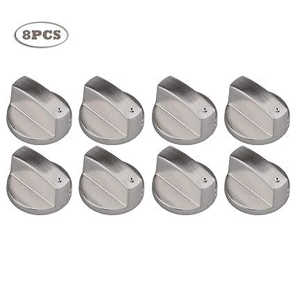 Migaven 8 Piezas Rotatorio Perillas de Universal Metal de Control de Reemplazo Accesorios para Cocinas/Cocina de gas/Horno Estufa/Estufa - 6mm