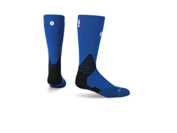 Stance - Calcetines NBA Solid Crew Oncourt azul, L: Amazon.es ...