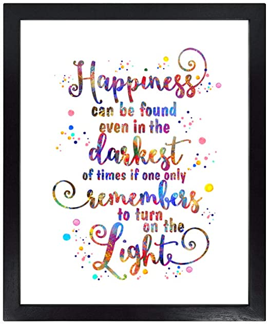 Harry Potter Quote Art Print Happiness Can Be Found Quote 8x10 Unframed