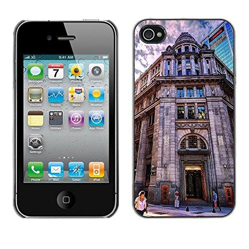 Premio Sottile Slim Cassa Custodia Case Cover Shell // F00029320 entrée du bâtiment // Apple iPhone 4 4S 4G