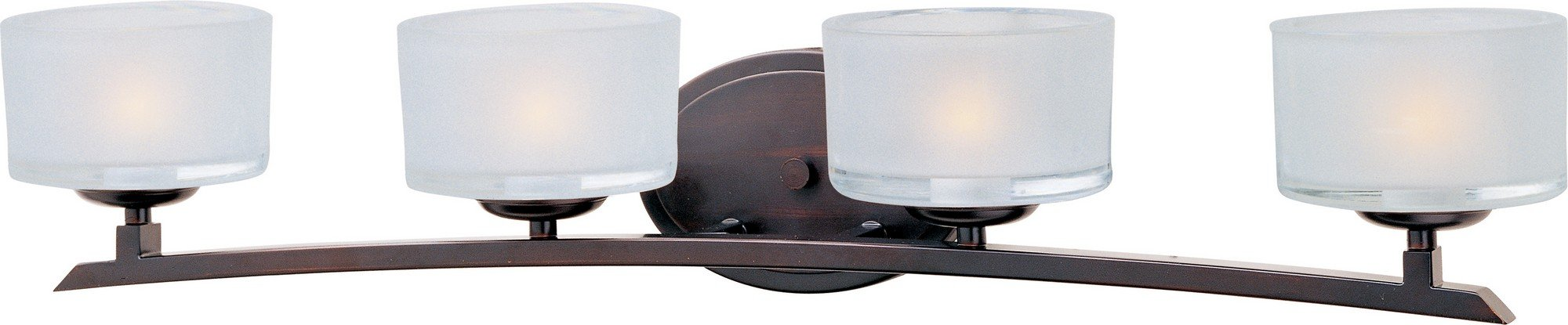 Maxim 19054FTOI Elle 4-Light Bath Vanity, Oil Rubbed Bronze Finish, Frosted Glass, G9 Frost Xenon Bulb , 13W Max., Wet Safety Rating, 2700K Color Temp, Glass Shade Material, 900 Rated Lumens