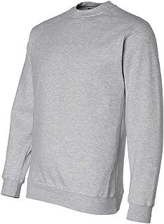 product image for Bayside Men's Heavyweight Crewneck Rib Knit Sweatshirt, Dark Ash, Xxxx-Large