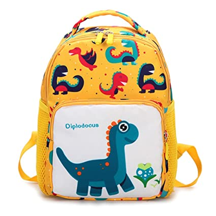 573ff813c85c Image Unavailable. Image not available for. Color  Lamdoo Toddler Backpack  Anti-Lost Band Kids Children Cartoon Dinosaur Print School Bag Yellow