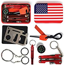 Professional Multi-tool SandP Emergency Survival Kit, Excellent for Hunting Hiking Climbing Camping Traveling, Colorful Outdoor Survival Kit, Perfect Gift