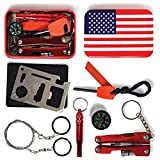 SandP Professional Multi-tool Emergency Survival Kit, Excellent for Hunting Hiking Climbing Camping Traveling, Colorful Outdoor Survival Kit