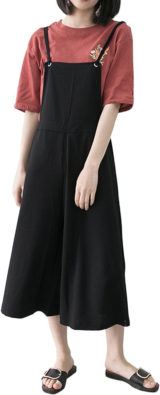 StyleDome Donna Tuta Tasche Jeans Ragazza Salopette Lunga Casual Elegante Moda Moda