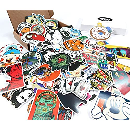 Skenoy random stickers car bike travel suitcase phone decals mix lot fashion cool
