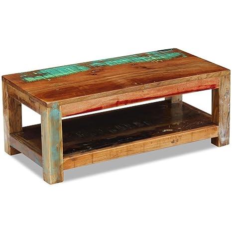 Beistelltisch Couchtisch Wohnzimmer Massivholz Gusseisen höhenverstellbar Antik