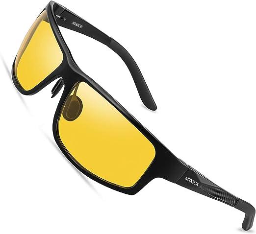 Night Driving vision HD Glasses Prevention Yellow Driver Sunglasses polarized SR