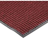 """NoTrax 109 Brush Step Entrance Mat, for Lobbies and Indoor Entranceways, 4' Width x 8' Length x 3/8"""" Thickness, Red/Black"""