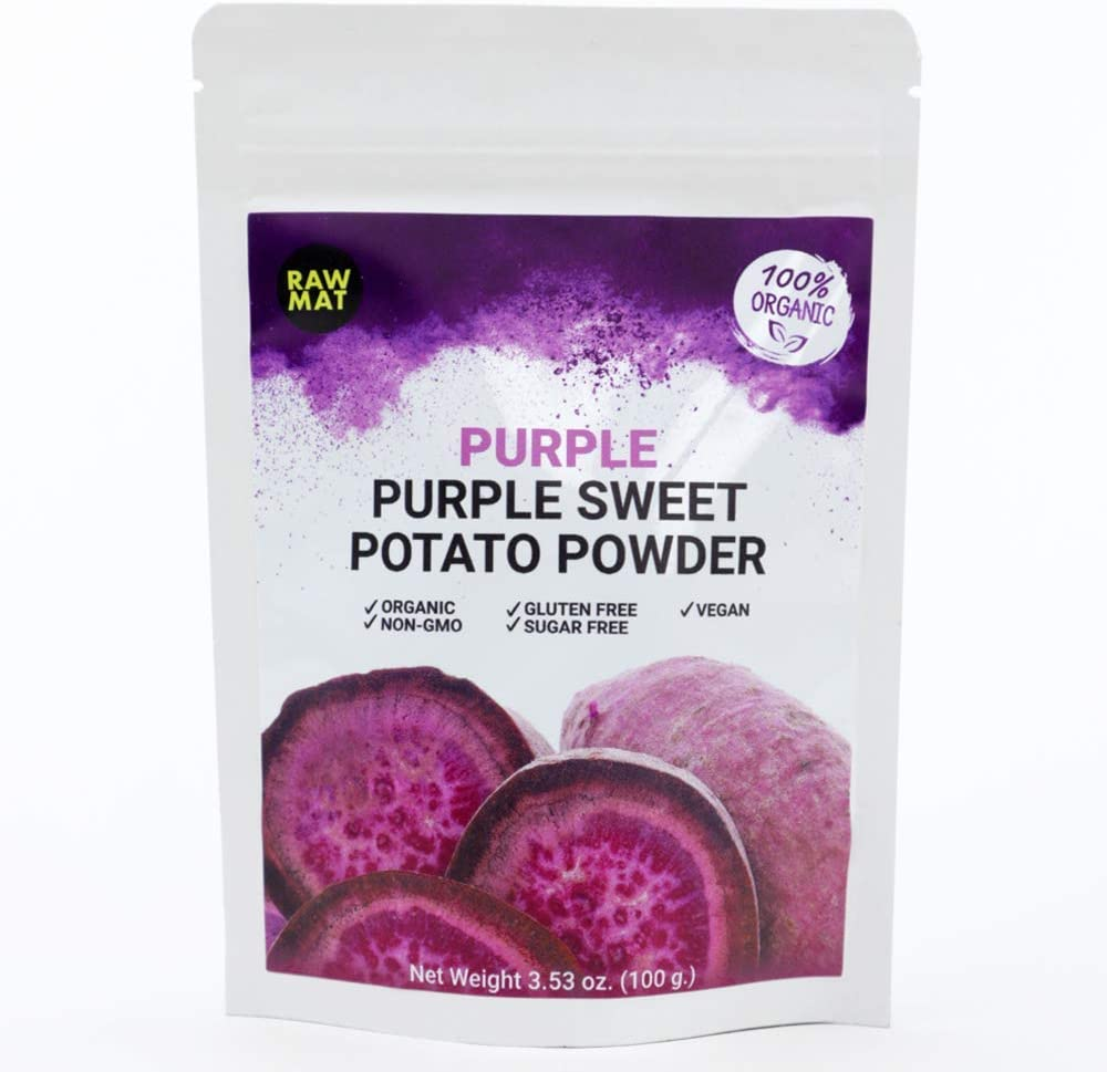 RAWMAT Organic Purple Sweet Potato Powder, Natural Food Colouring, Diabetic Diets, Immunity Support, Health Benefit for Vegan, 25 Serving (3.53 Ounce)